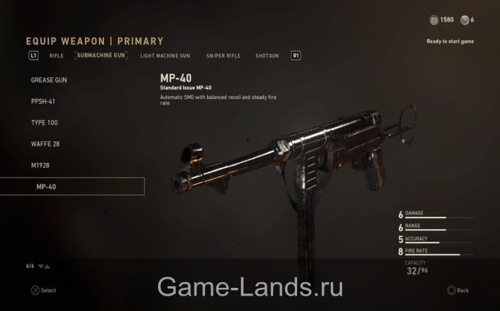 MP-40 Call of Duty: WWII