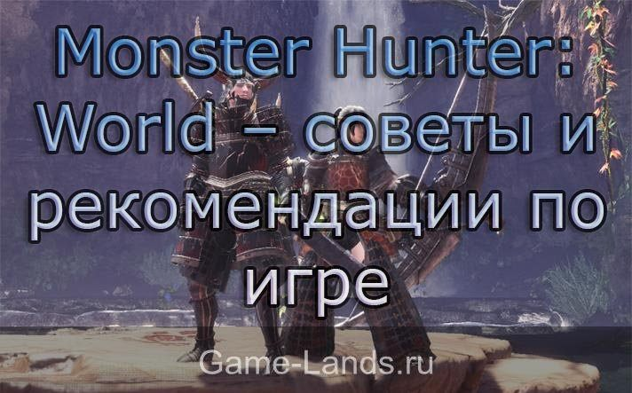 Monster Hunter: World  советы и рекомендации