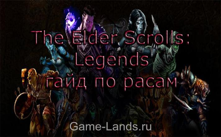 расы в elder scrolls legends